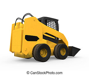 Skid Steer Loader isolated on white background. 3D render