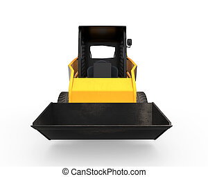 Skid Steer Loader isolated on white background 3D render