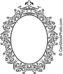 decorative frame with crowns
