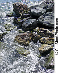 River Rocks - River tumbling over rocks