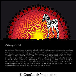 African tribal art stylized vector background - African...