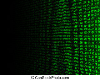 Fading Hexadecimal Background
