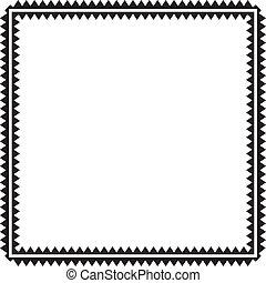 Zig Zag frame background