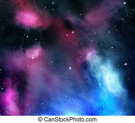 night sky with stars and nebula - night sky with stars and...