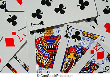 Group of Playing Cards - Close up of a group of playng cards...