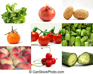 Fruits and Vegetables,Collage