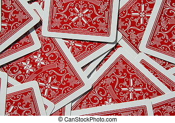 Group of Playing Cards - Close up of a group of playng...
