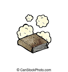 dusty old book cartoon