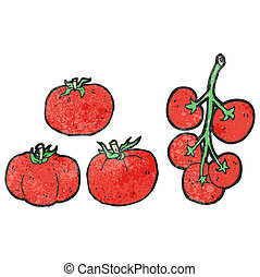 cartoon tomatoes
