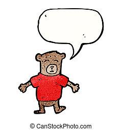 cartoon teddy bear character