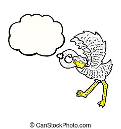 cartoon ostrich