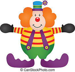 Adorable Clown - Scalable vectorial image representing a...