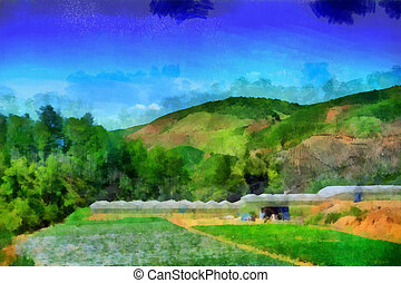 Ricefield background