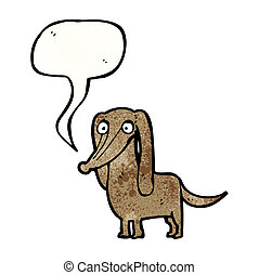 little dog with speech bubble