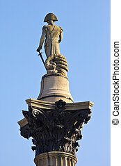 Admiral Nelson statue on Nelson's Column - The statue of...