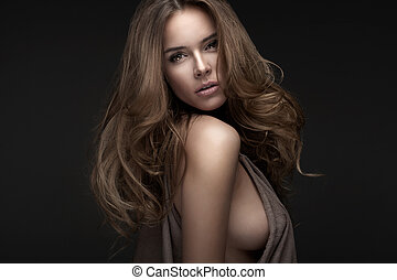 blonde woman - Portrait of beautiful blonde woman