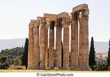 olympian,  zeus, Templo, Atenas