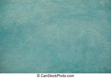 Blue cement wall with painted brush texture