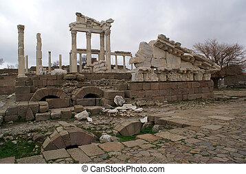Temple of Trajan in Bergama, Turkey