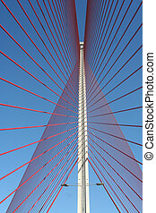 The cable-stayed bridge Talavera, ToledoPuente of Castilla...