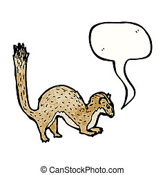 cartoon weasel