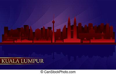 Kuala Lumpur night city skyline