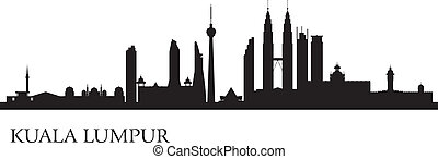Kuala Lumpur city skyline Vector silhouette illustration