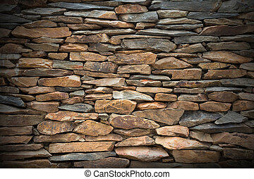 Slate stone wall for decoration