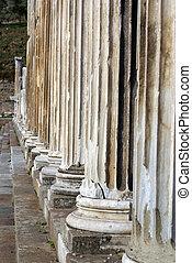 Columns in Asklepion, Bergama, Turkey