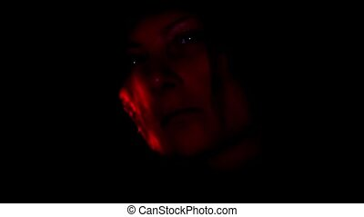 Face Of A MonsterDemon In The Dark - Video clip of a monster...