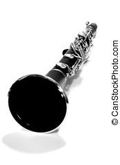 negro, blanco, clarinete