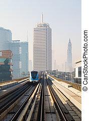 Metro Train in Dubai, United Arab Emirates