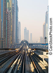 Metro Train in Dubai, United Arab Emirates