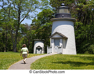 Two Lighthouses in Cape Cod