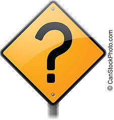Question Mark Sign - Question mark road sign