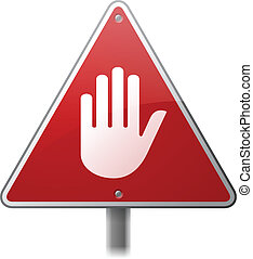 precaución, señal