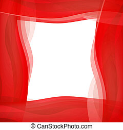 Red wavy graphic border illustration