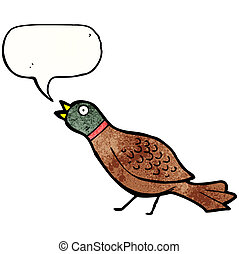 cartoon pheasant