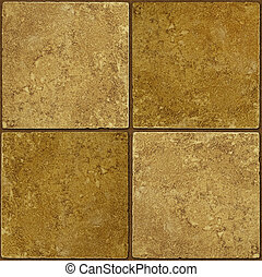 Ceramic two-tone greenish brown stone tiles seamlessly...