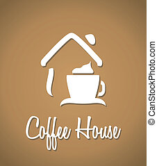 Coffee house icon