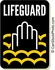 Lifeguard sign
