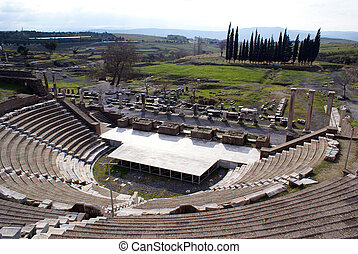 Theater - Theatrer on ruins of Asklepion in Bergama, Turkey...