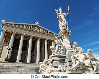 oil austria, vienna, parliament - parliament as the seat of...
