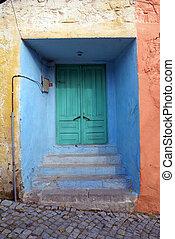 Closed door on the street in Bergama, Turkey...