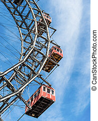 oil austria, vienna, ferris wheel - the ferris wheel in...