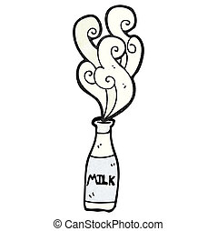 cartoon milk bottle