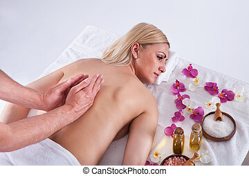 Young Woman Getting Message - Beautiful Young Woman Getting...