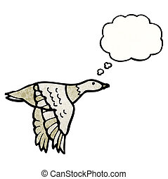 flying bird cartoon