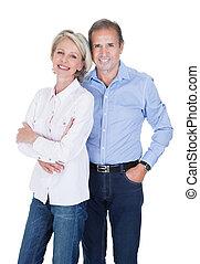 Portrait Of Mature Couple - Portrait Of Happy Mature Lovely...