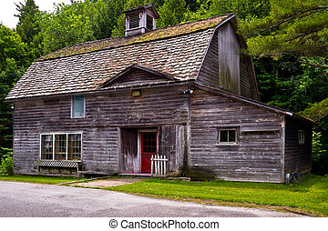 East Arlington, Vermont Country Store - An old barn has been...